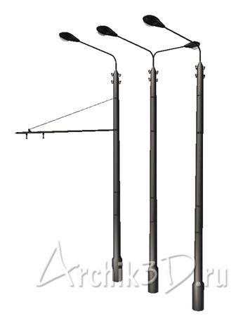 Фонарные столбы для archicad
