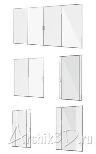Скачать 3d модели дверей и окон