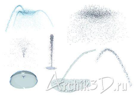 Вода капли фонтаны для artlantis 7 шт
